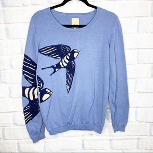Anthropologie Blue Bird Sweater